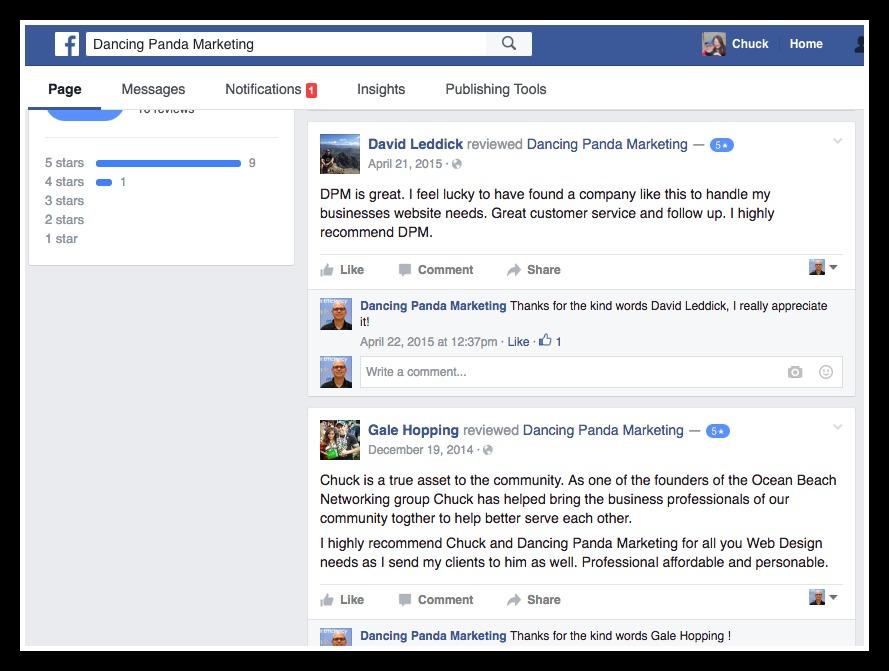 FB reviews for DPM