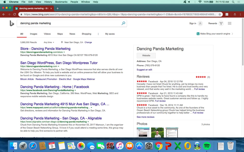 Bing as a citation